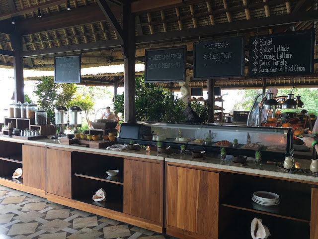 gluten-free breakfast buffet at the Four Seasons Jimbaran Bay Bali
