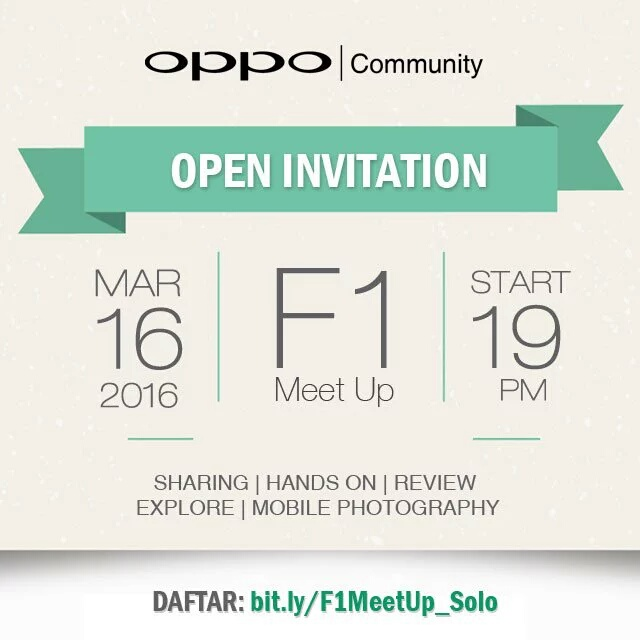 OPPO Community F1 Meet Up Solo 2016