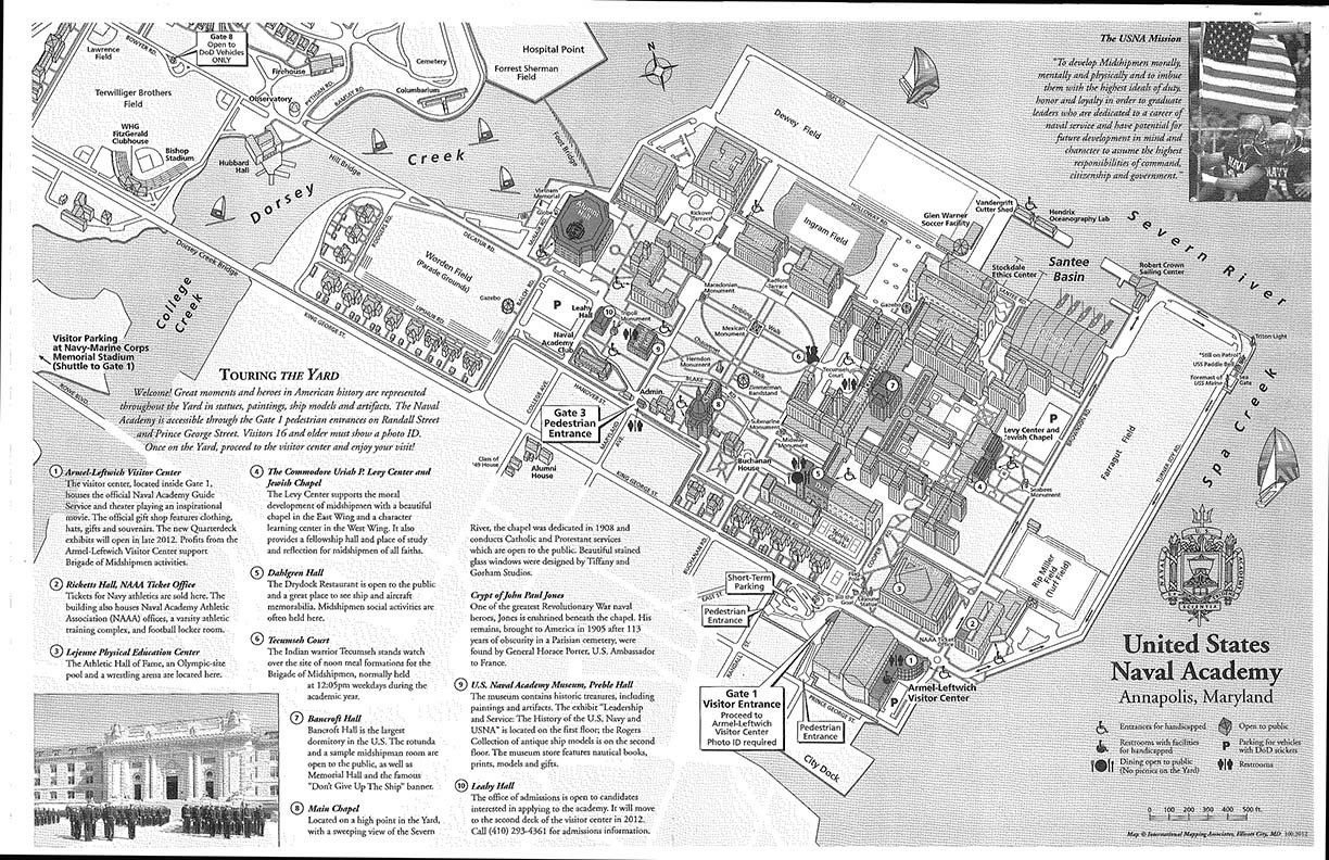 gallery for > naval academy campus map