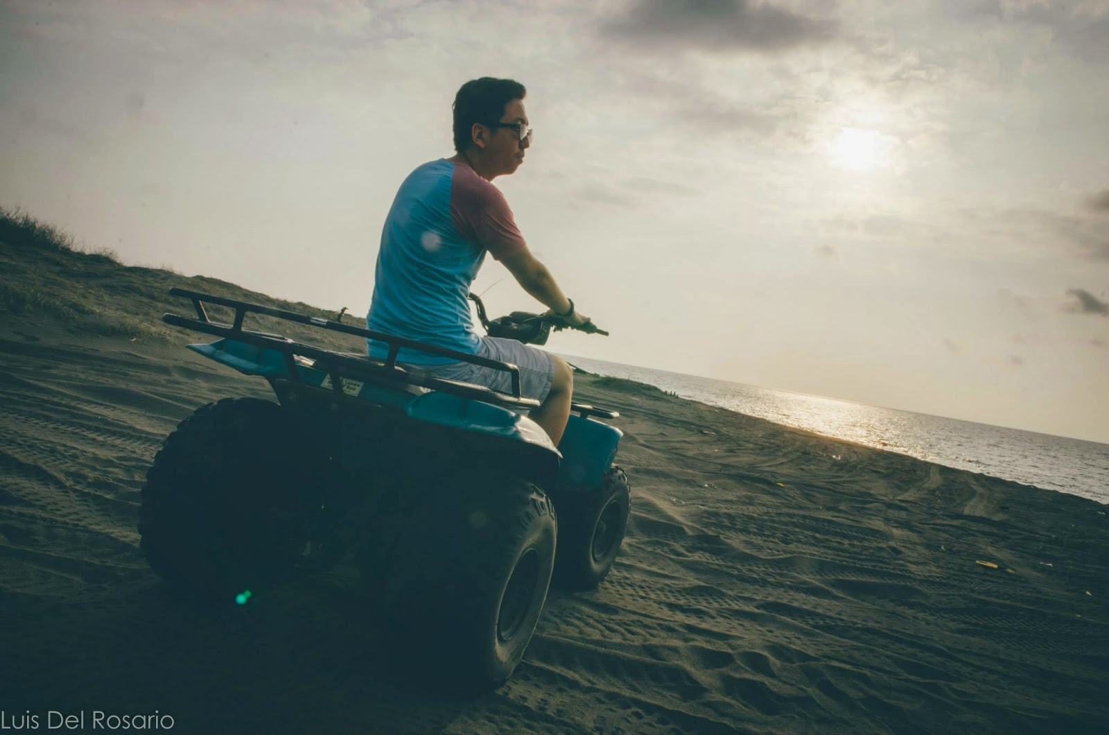 Riding the ATV in the sand dunes of Paoay, Ilocos Norte