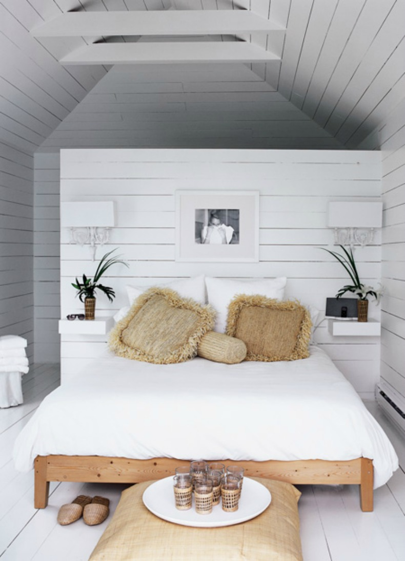 white coastal bedroom