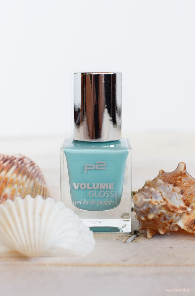 p2 Volume Gloss gel look polish / Nagellack Mint