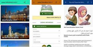 Aplikasi Jadwal Ramadhan 1439H 2018