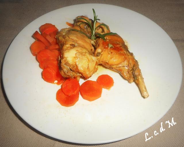 coniglio allo zenzero e salsa di soia