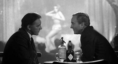 Richard Burton in The Spy Who Came in from the Cold, diva dancing in the background, Directed by Martin Ritt