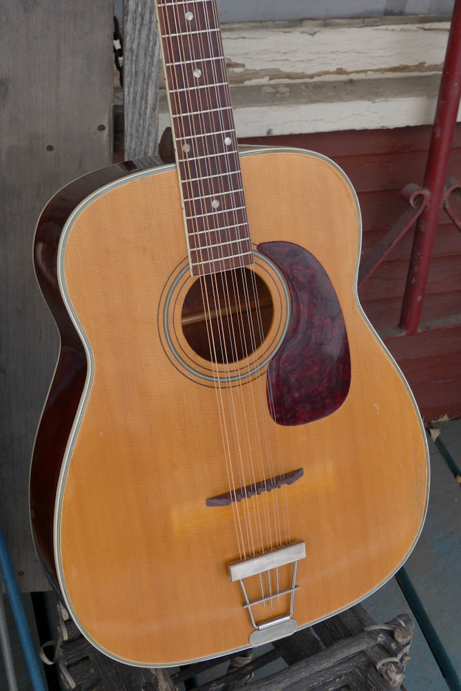 1969 harmony h1270 jumbo 12 string guitar. Black Bedroom Furniture Sets. Home Design Ideas