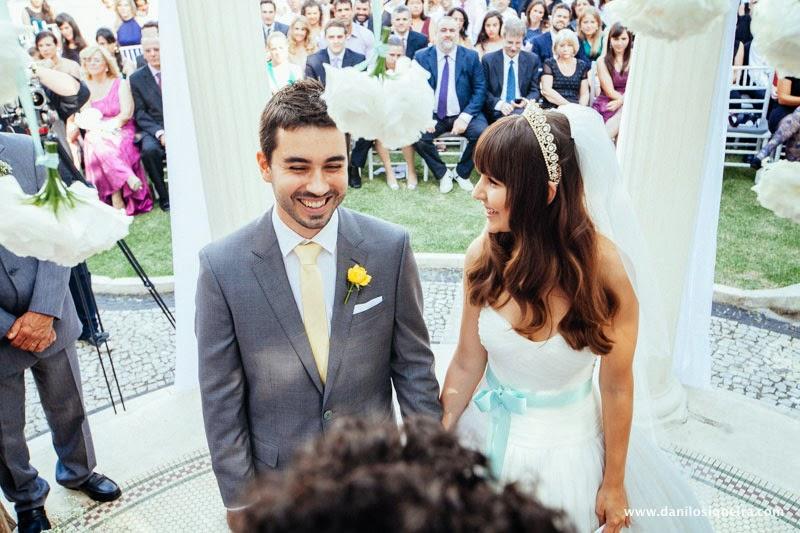 cerimonia - altar - noivos - palacio dos cedros - casamento de princesa - casamento conto de fadas - casamento azul amarelo - casamento de dia - casamento ao ar livre