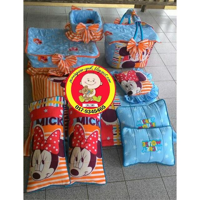 design, ready stock, set bakul bayi, set bakul bersarung., set tilam, set tilam bayi,barangan bayi
