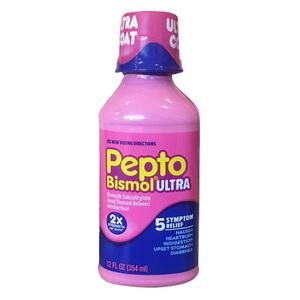 Thuốc Giảm Đau Dạ Dày Tiêu Chảy Pepto Bismol Ultra Liquid Hàng Mỹ Xách Tay