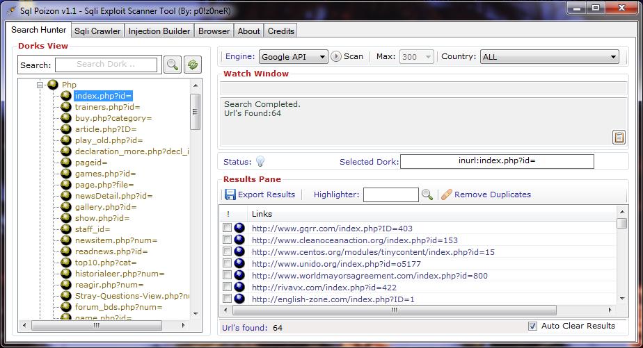 HackBox: Sqli Google Dork Scanner Tool SQL Poizon Download