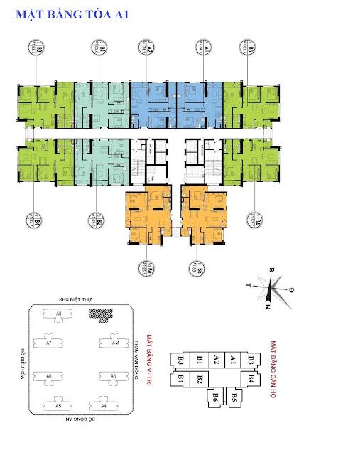 Mặt bằng thiết kế căn hộ tòa A1 An Bình City