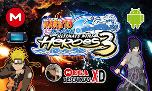 تحميل لعبة Naruto Shippuden Ultimate Ninja Heroes 3 psp لأجهزة psp ومحاكي ppsspp