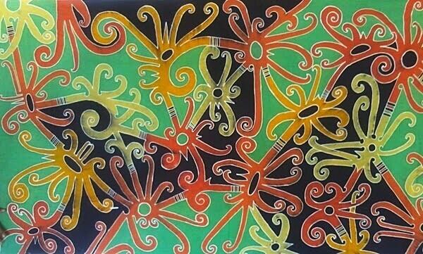 Batik Tulis Halus Motif Dayak Sulur Paut