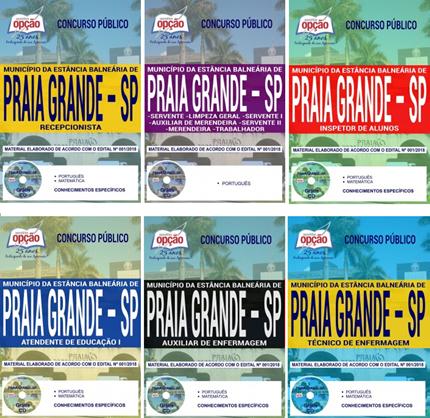 apostila concurso da Prefeitura da Estância Balneária de Praia Grande