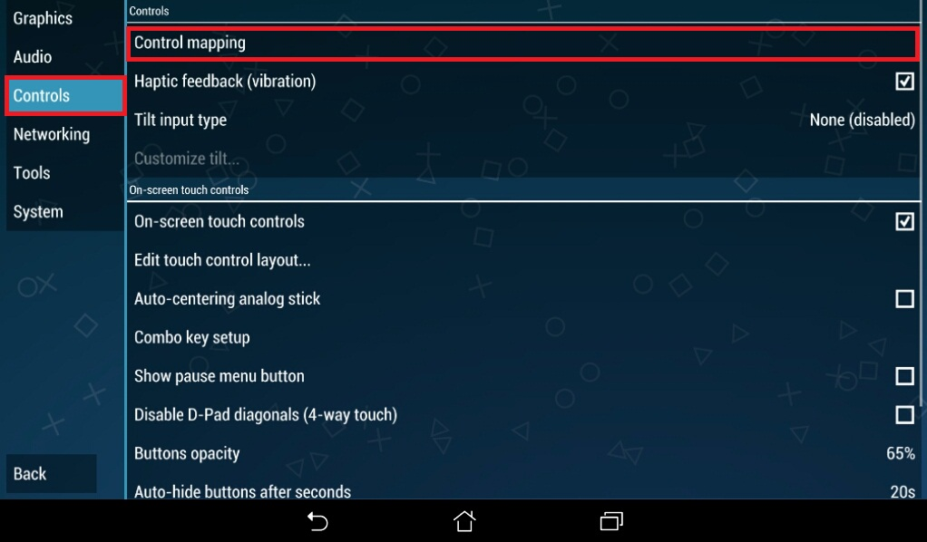 Ppsspp key mapping android games
