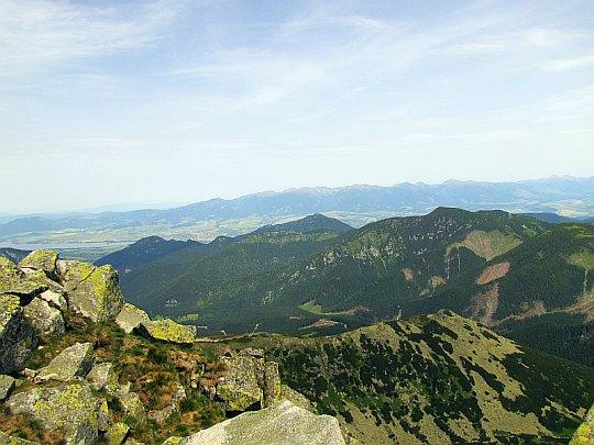 Panorama na północ w stronę Demianowskiej Doliny.