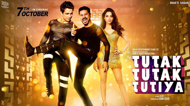 full cast and crew of bollywood movie Tutak Tutak Tutiya 2017 wiki, Prabhudheva, Sonu Sood and Tamannaah, story, release date, Actress name poster, trailer, Photos, Wallapper