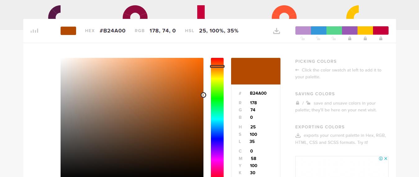HTML Colour Codes