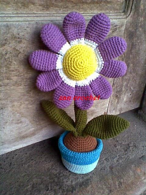 "Amigurumi – Tinier Crochet Flower ""Duroli"" - premium & free ... | 640x480"