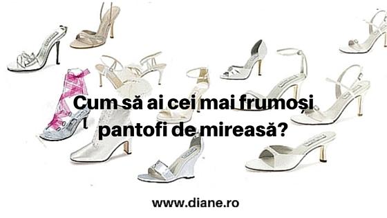 Cei mai frumosi pantofi de mireasa