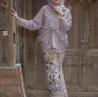 Model Kebaya Muslimah Bahan Brokat Elegan