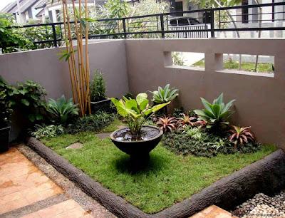 desain taman rumah minimalis mini
