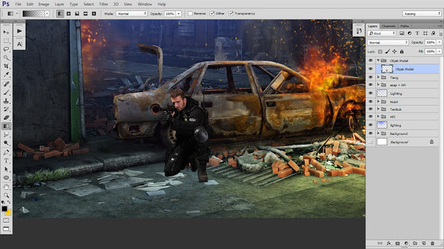37 Tutorial Photoshop Dramatic Manipulation WAR part 2