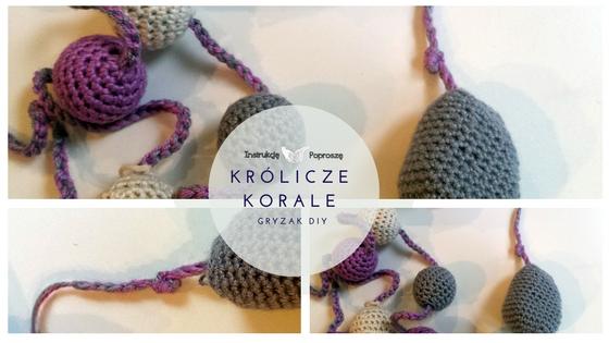Korale na szydełku, mocowanie łańcszka z maskotka