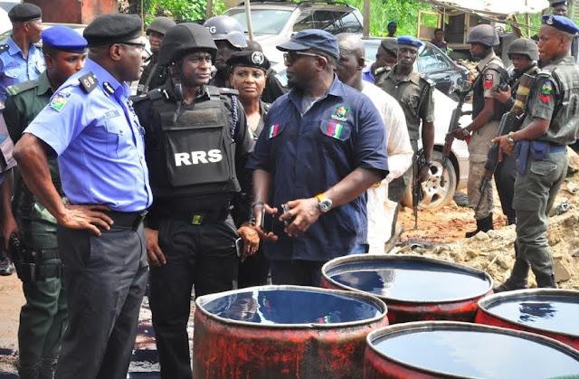 Illegal Oil Depot Uncovered In Oregun, Lagos