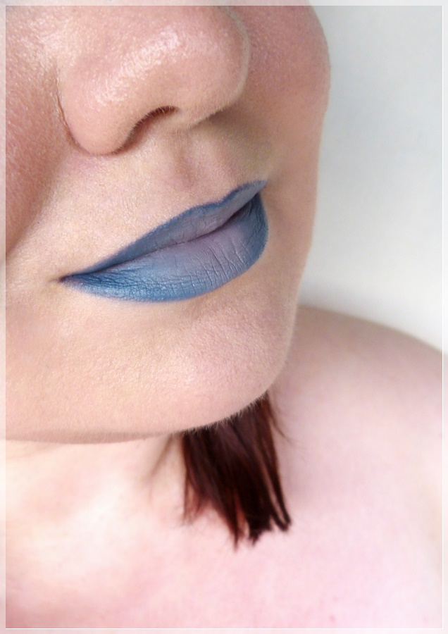 lip ombre blue light purple