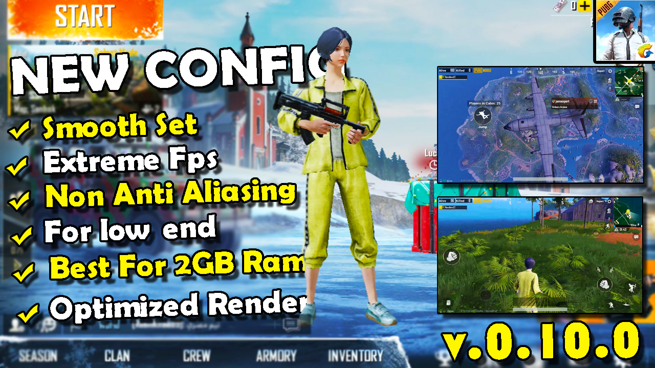 Config Low Smooth Extreme 60fps Pubg Mobile No lag Terbaru Update