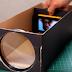 kreatif !!! Membuat Proyektor sederhana Smartphone Dengan Kerdus Kotak Sepatu