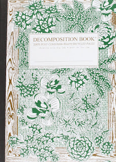 decomposition book with plant design