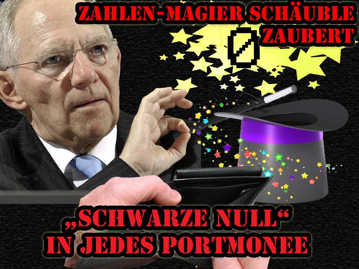 """Zahlenmagier Wolfgang Schäuble """"Schwarze Null"""" Er macht uns alle arm"""