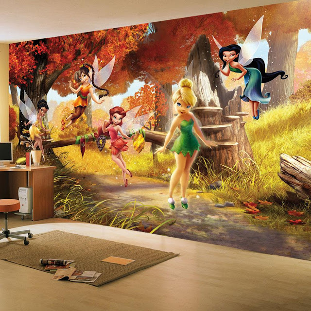 Wall Murals for Kids Room Tinkerbell Fairies
