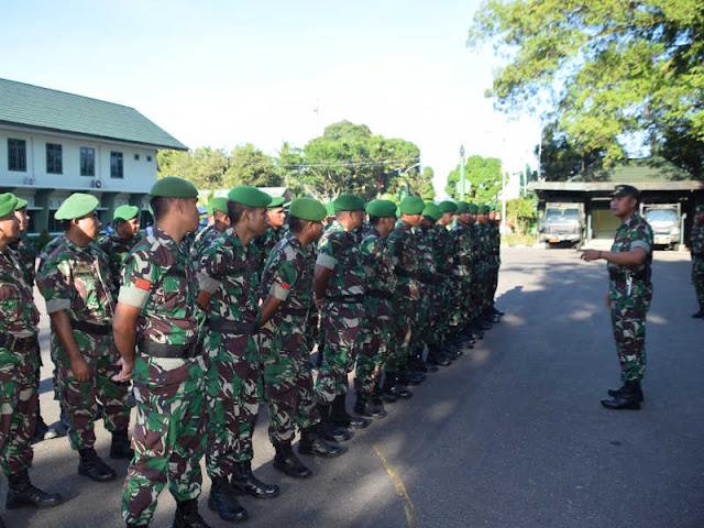 Prajurit Korem Binaiya Laksanakan Permildas di Makorem