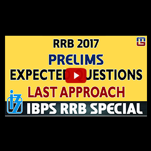 Expected Questions For RRB PO Prelims | Last Approach | Reasoning | IBPS RRB Special 2017