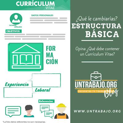 Estructura, basica, curriculum, vitae, argentina, un trabajo