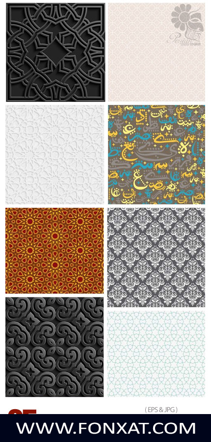 Download vector illustrations Arabic Pattern Designer