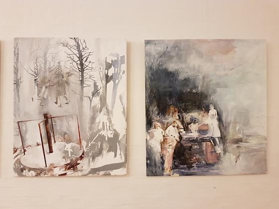 Susanne Pedersen: 2 malerier