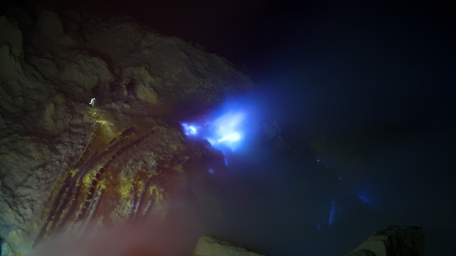 Witnessed the blue flames of Kawah Ijen