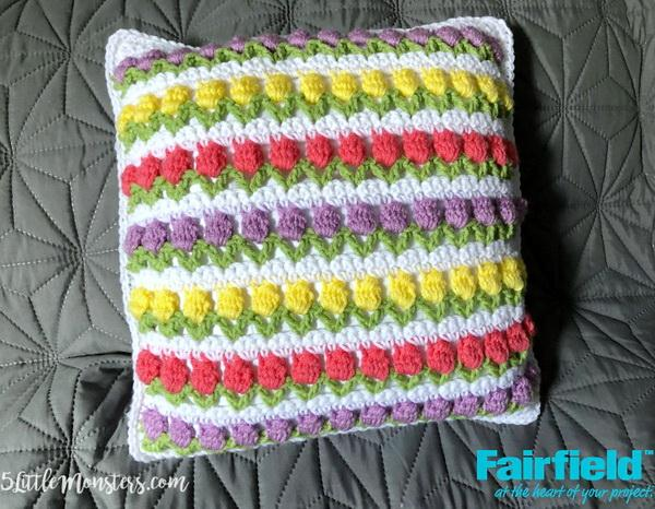 Tulip crochet stitch Pillow