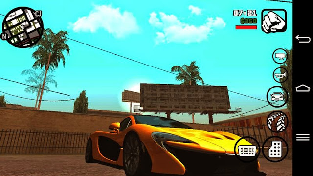 mclaren p1 mod for gta san andreas android