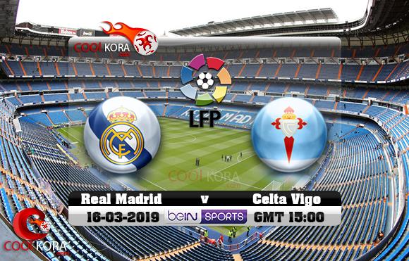 مشاهدة مباراة ريال مدريد وسيلتا فيغو اليوم 16-3-2019 في الدوري الأسباني