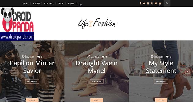 Life Fashion Responsive Blogger Template Free