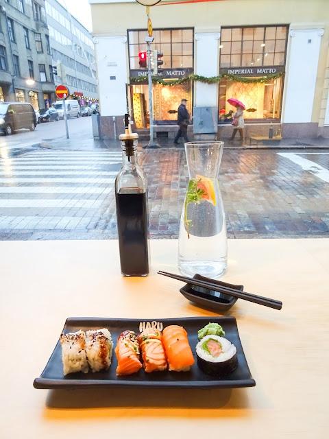 Haru sushi, Fredrikinkatu, sushi, sushibuffet, lounasbuffet, lounas, lounastreffit,