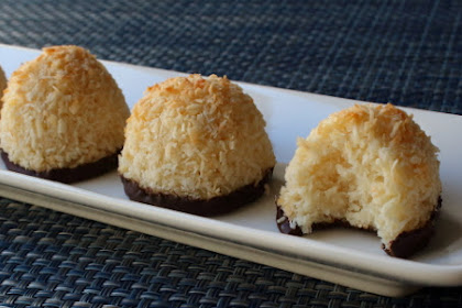 "Chocolate-Dipped Coconut Macaroons – What a Difference an ""O"" Makes"