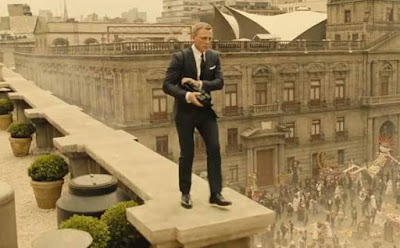 A Still from the opening sequence of Spectre, Mexico City, Unofficial Mission ordered by the previous M, Directed by Sam Mendes