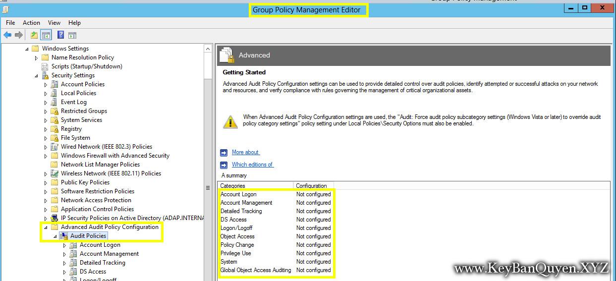 Thực hành kiểm tra nâng cao trong Windows Server 2016