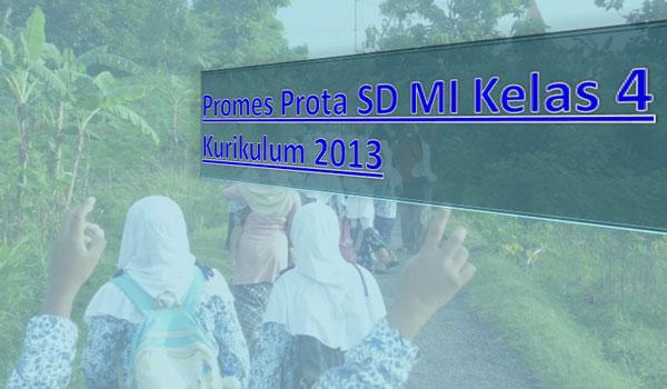 Promes Prota SD MI Kelas 4 Kurikulum 2013 Semua Mapel Semester 1 2